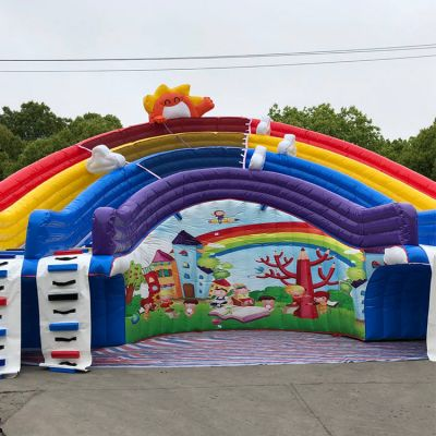 Rainbow Inflatable Water Slide For Pool